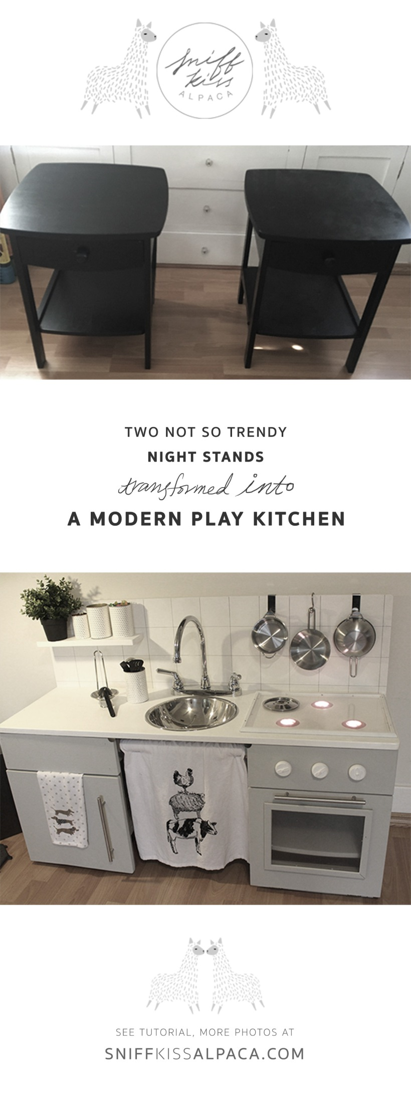 Play Kitchen – 1 | Before&After | DIY | Tutorial | Sniff Kiss Alpaca ...